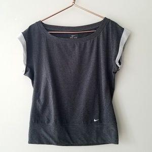 Nike | Gray Short Sleeve Crewneck Sweatshirt